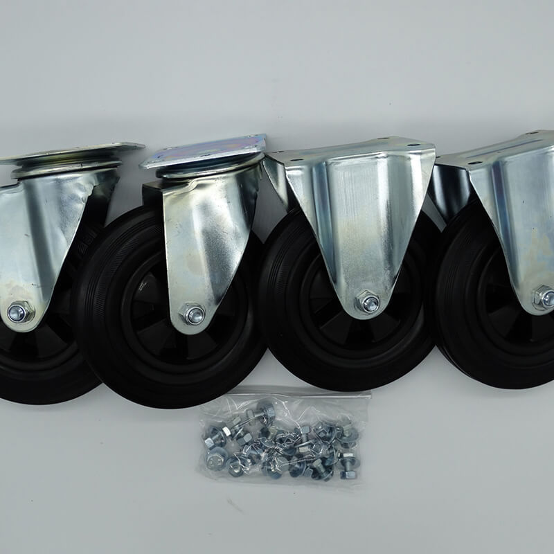 Wheel kit for fumigation box