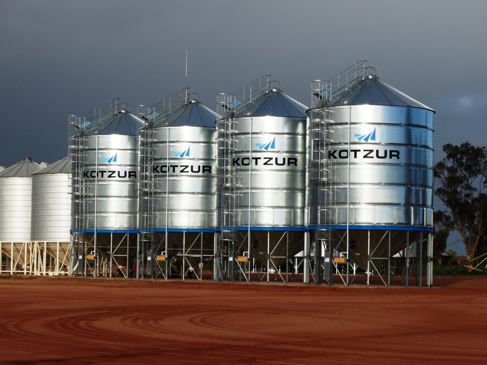 Large Elevated Silos